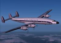 Screenshot of Air France SuperStarliner in flight.