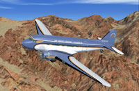 Screenshot of Air Grand Canyon Douglas DC-3 in flight.