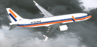 Screenshot of Air Holland Boeing 737 in flight.