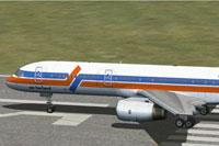 Screenshot of Air Holland Boeing 757-200 on runway.