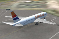 Screenshot of Air Holland Boeing 767-300ER on the ground.