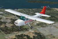 Screenshot of Air India Cessna 172 in flight.
