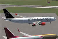 Screenshot of Star Alliance Airbus A330-223 on the ground.
