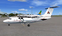 Screenshot of Air Kenya DHC Dash 7 on the ground.
