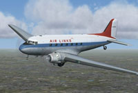Screenshot of Air Links Ltd. Douglas DC-3 in flight.
