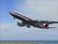 Screenshot of Air Malta 707-320 ADV in the air.