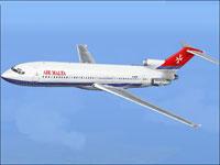 Screenshot of Air Malta Boeing 727-200 in flight.