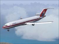 Screenshot of Air Malta Boeing 727-200 in the air.