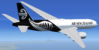 Screenshot of Air New Zealand Boeing 777-200ER in flight.