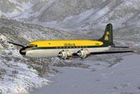 Screenshot of Air North Douglas DC-4 in flight.