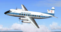 Screenshot of Air Rhodesia Vickers Viscount 748D in the air.