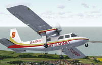 Screenshot of Air Sarnia Britten Norman Islander in flight.