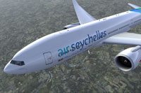 Screenshot of Air Seychelles Boeing 777-200LR in new colors.