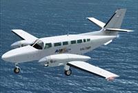 Screenshot of Air South Reims Cessna 406 in flight.