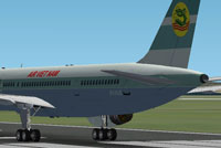 Screenshot of Air Viet Nam Boeing 757-300 on runway.