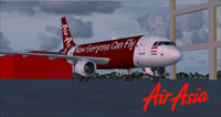 Screenshot of AirAsia Indonesia Airbus A320 on the ground.