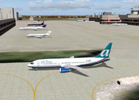 Screenshot of AirTran Boeing 737-400 on the ground.