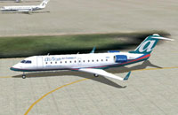 Screenshot of AirTran JetConnect Canadair CRJ-200 on the ground.