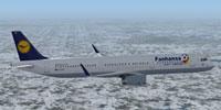 "Screenshot of Lufthansa ""Fahansa"" Airbus A321 in flight."