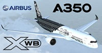 Screenshot of Airbus A350 in carbon livery.