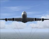 Screenshot of Airbus A380 in flight.