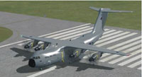 Screenshot of Airbus A400M on runway.