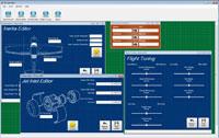Screenshot of Aircraft Editor windows.