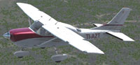 Screenshot of Aires de Pavas Cessna CT206H in flight.