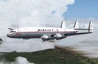 Screenshot of Airlift Super H Constellation in flight.