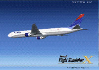 Splash Screen showing Airliner in flight.