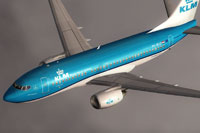 Screenshot of KLM Royal Dutch Airlines Boeing 737-700 in flight.