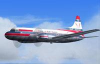 Screenshot of Airlines of South Australia CV-440 in flight.