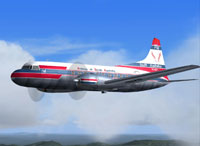 Screenshot of Airlines of South Australia Convair 440 in flight.