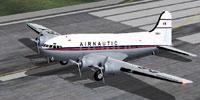 Screenshot of Airnautic Boeing 307 Stratoliner on runway.
