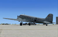 Screenshot of Airways Douglas DC-3 on the ground.