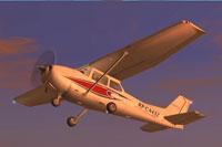 Screenshot of Airworks Aviation Academy Cessna C172 in flight.