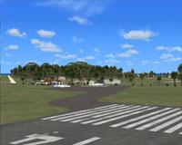 Screenshot of Aitutaki Airport scenery.