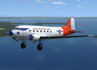 Screenshot of Alaska ANG DC-3 in flight.