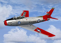 Screenshot of Alaska ANG F-86 Sabre in flight.