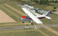 Screenshot of plane flying over Stapleford, UK.