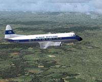 Screenshot of Alidair Scotland Viscount 724 in flight.