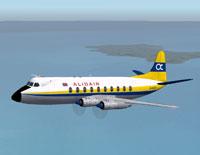 Screenshot of Alidair Viscount 708 in flight.