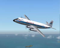 Screenshot of Alidair Viscount 708 in flight.