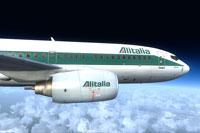 Screenshot of Alitalia Boeing 737-700.
