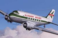 Screenshot of Allegheny Airlines Douglas DC-3 in flight.