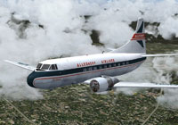 Screenshot of Allegheny Airlines Martin 202 in flight.