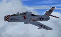 Screenshot of Alphasim F-84F in flight.