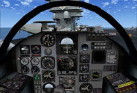 Screenshot of RA-5C cockpit panel.