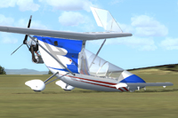 Screenshot of American Aerolites Falcon UL on the ground.
