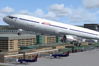 Screenshot of American AirSea McDonnell Douglas MD-11 taking off.